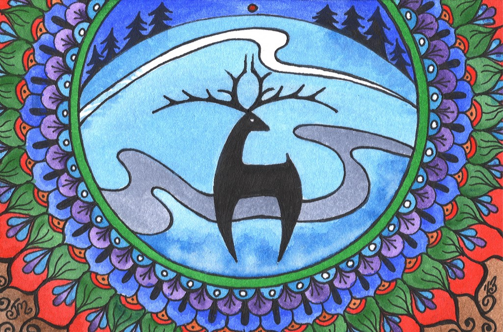 Deer Mandala: Available as Cards or Larger Prints
